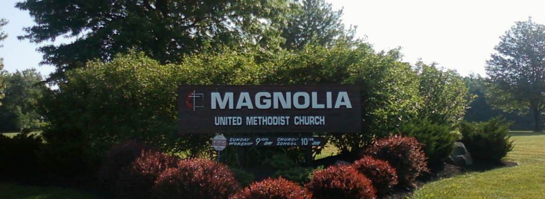 Sign at the entrance of the Magnolia United Methodist Church